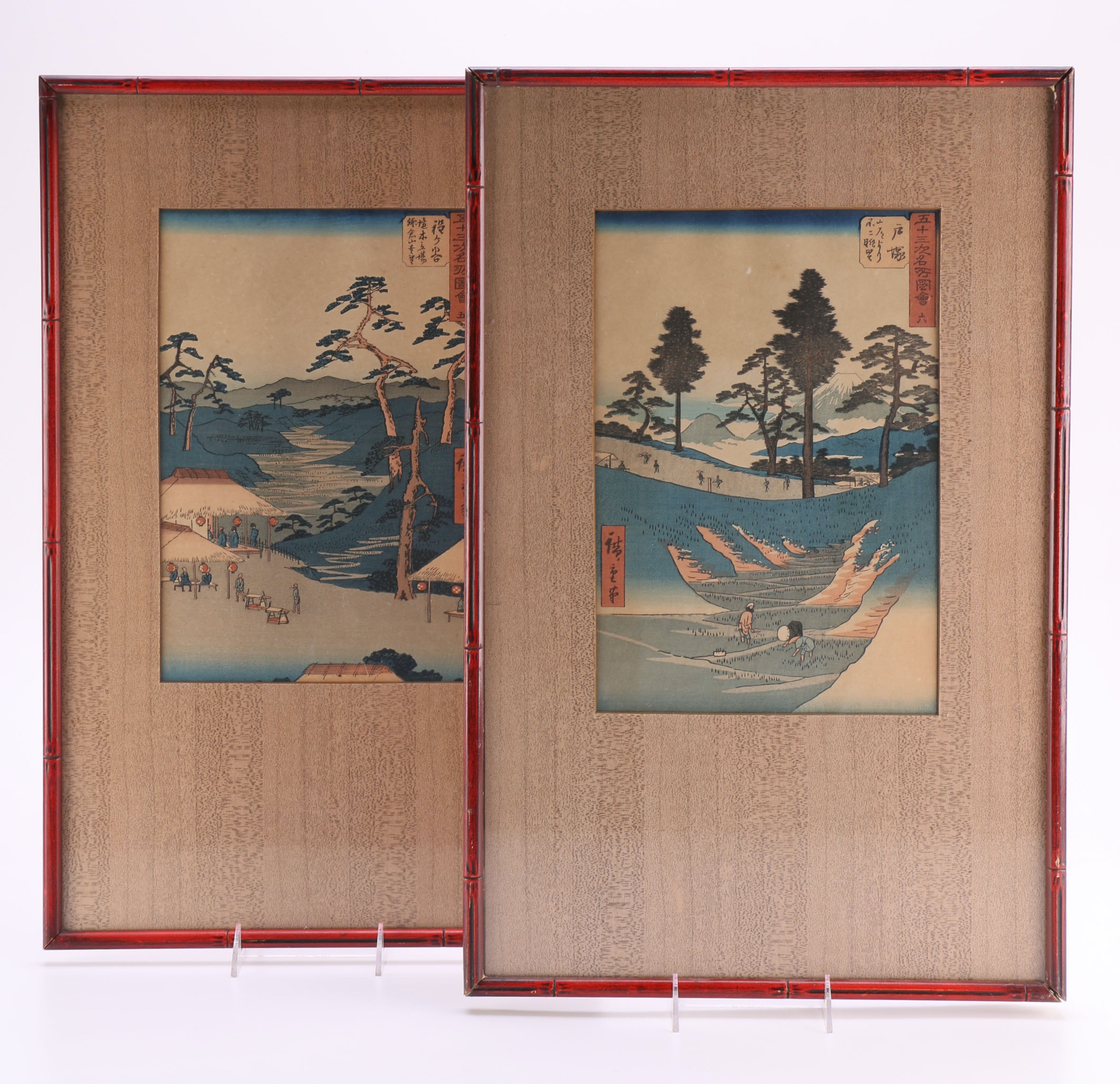 "Utagawa Hiroshige Woodcuts From ""The Fifty-Three Stations of the Tokaido"""