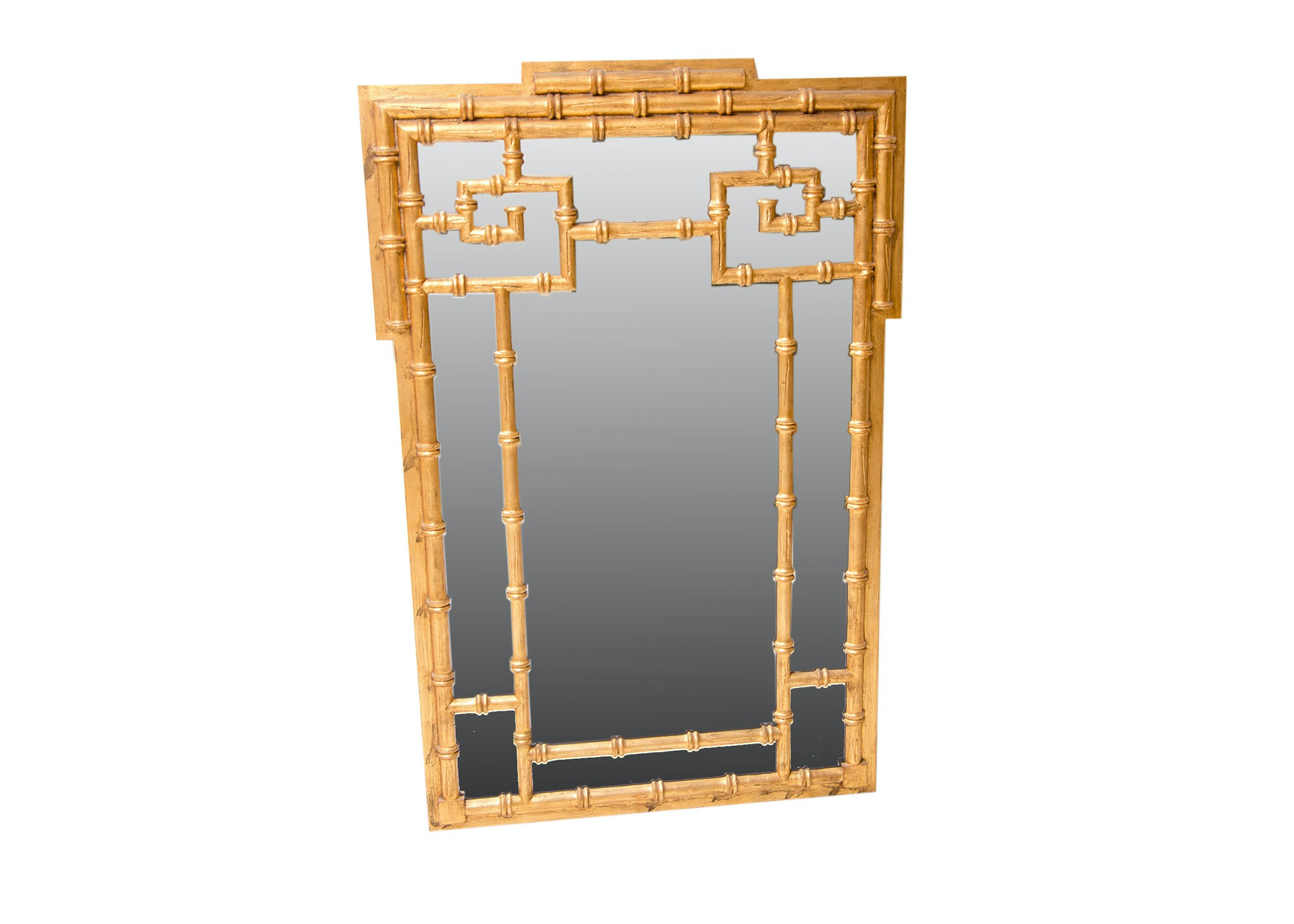 Bamboo Framed Wall Mirror