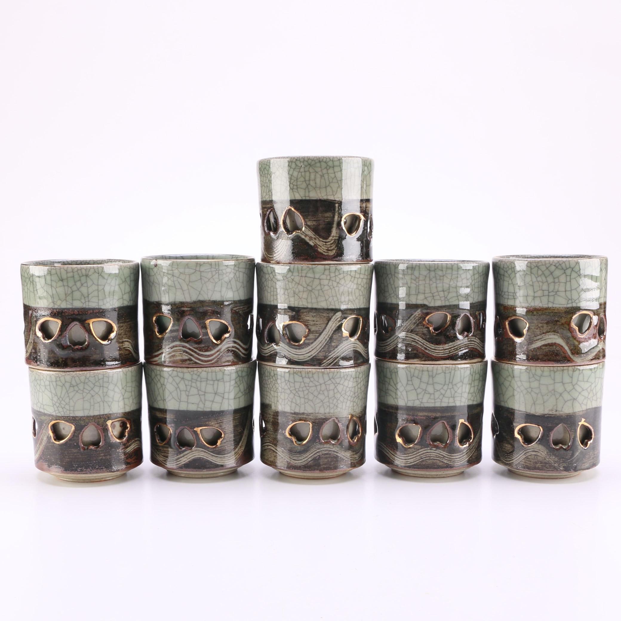 Set of Japanese Ceramic Cups
