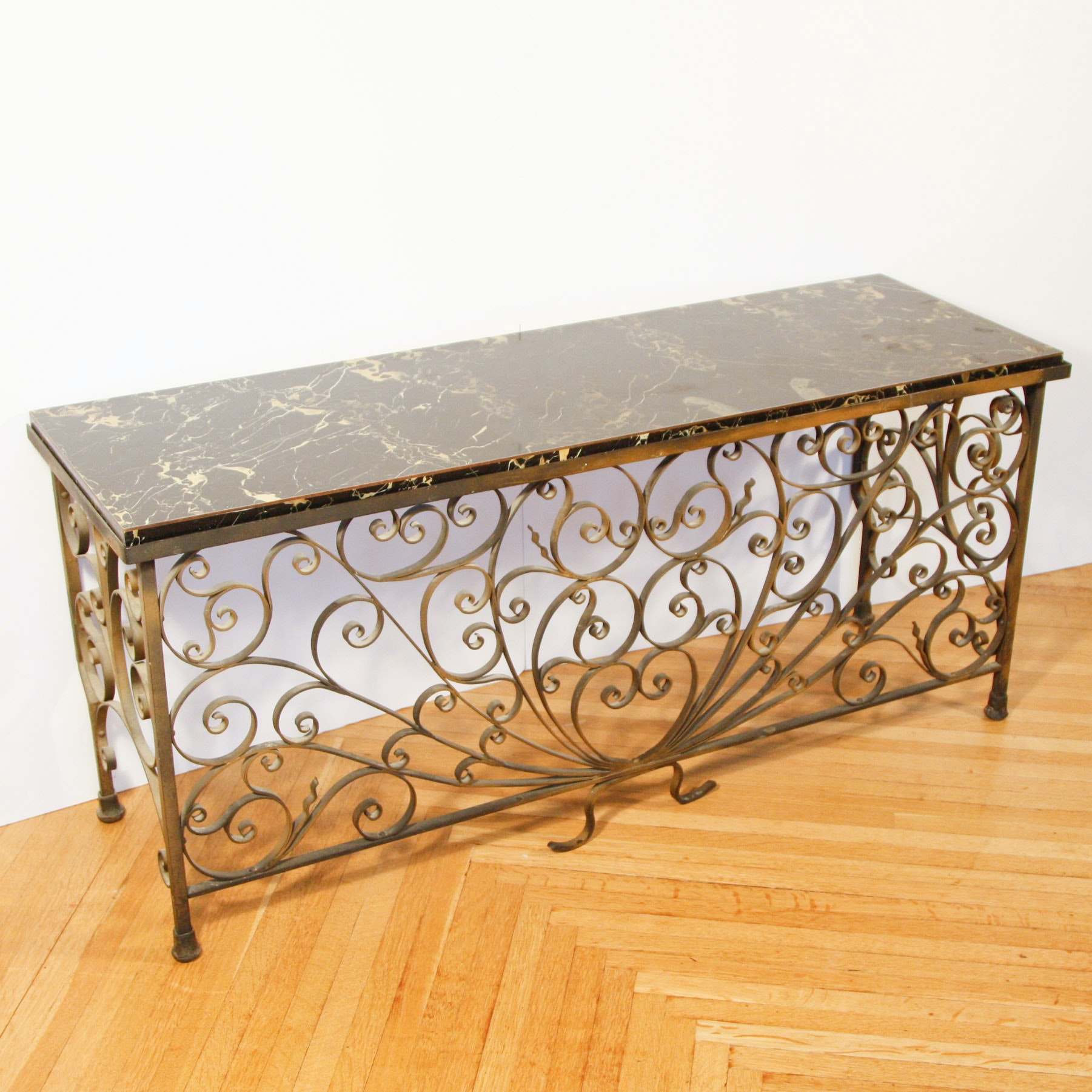 Antique Cast Iron Radiator Cover With Custom Marble Top ...