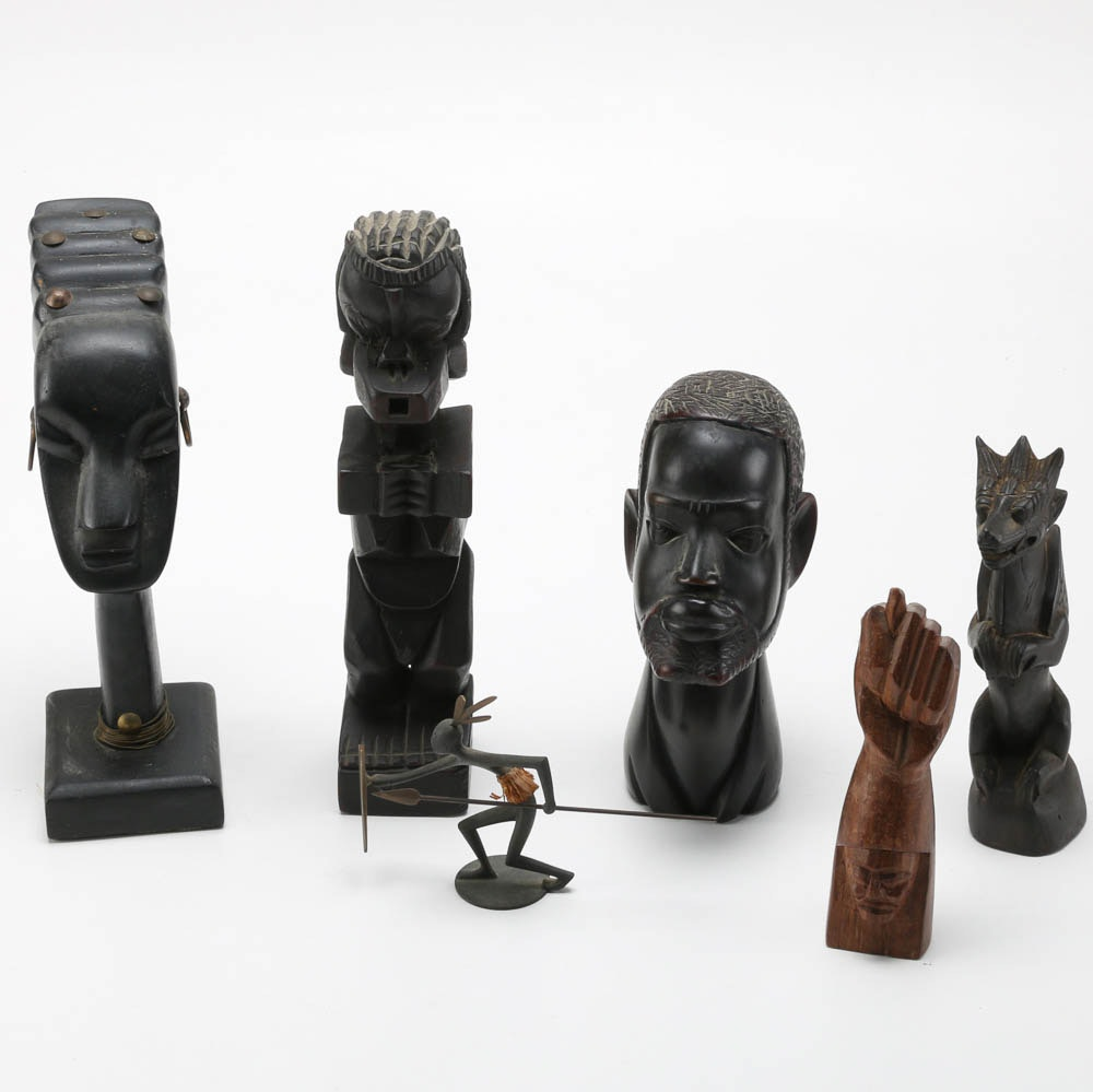 Hand Carved African Figurines