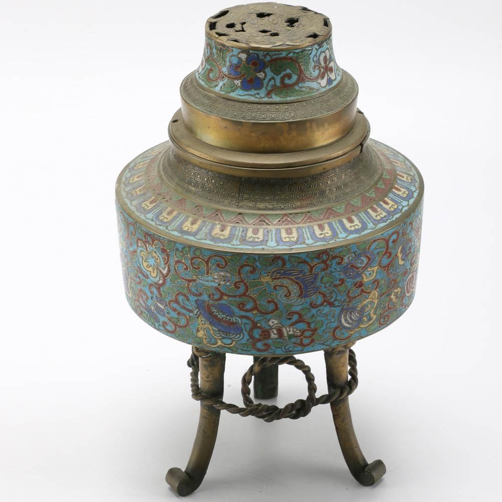 Chinese Cloisonné Incense Burner