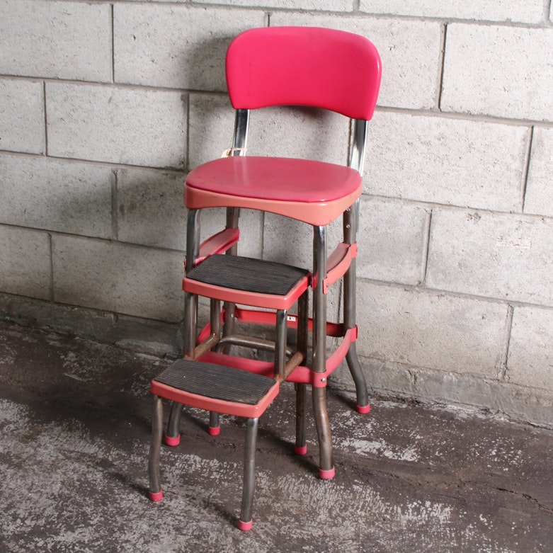 Cosco Pink Convertible Counter Chair And Step Stool ...