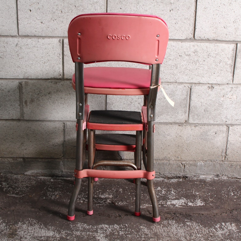 Costco Convertible Chair: Cosco Pink Convertible Counter Chair And Step Stool : EBTH