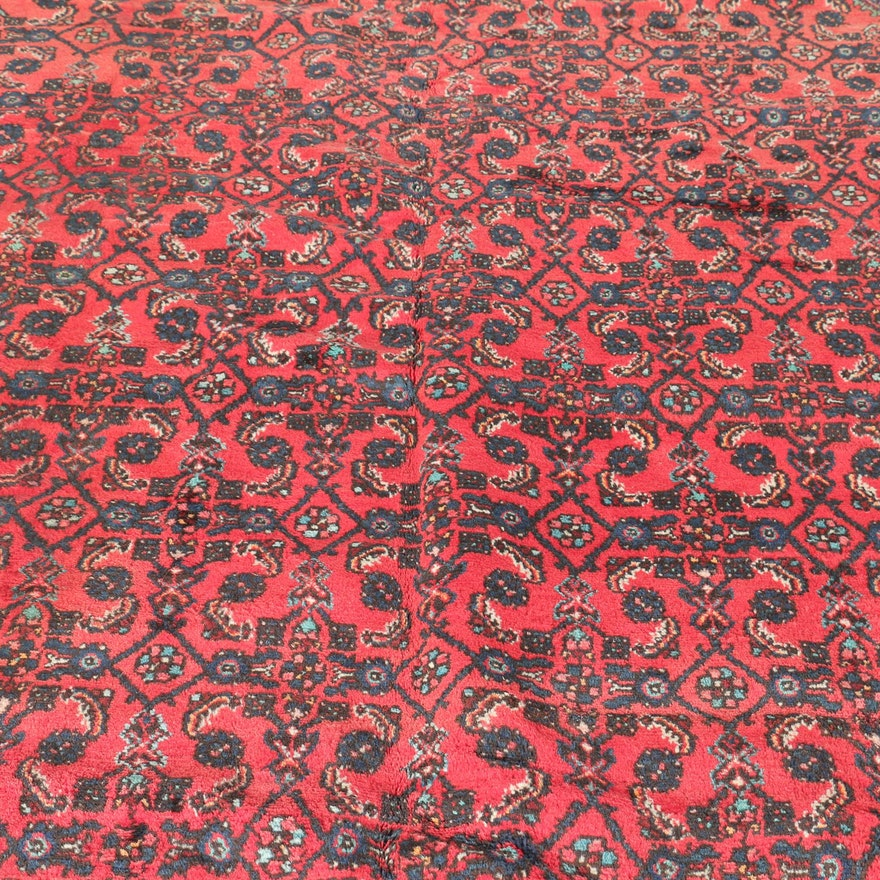 Persian Hand Woven Bakhtiari Style Wool Area Rug Ebth: Large Handwoven Bijar-Style Herati Area Rug