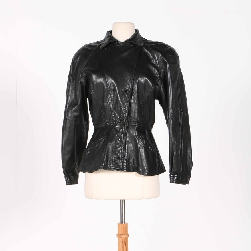29e0362c0 Neiman-Marcus Women's Black Leather Jacket