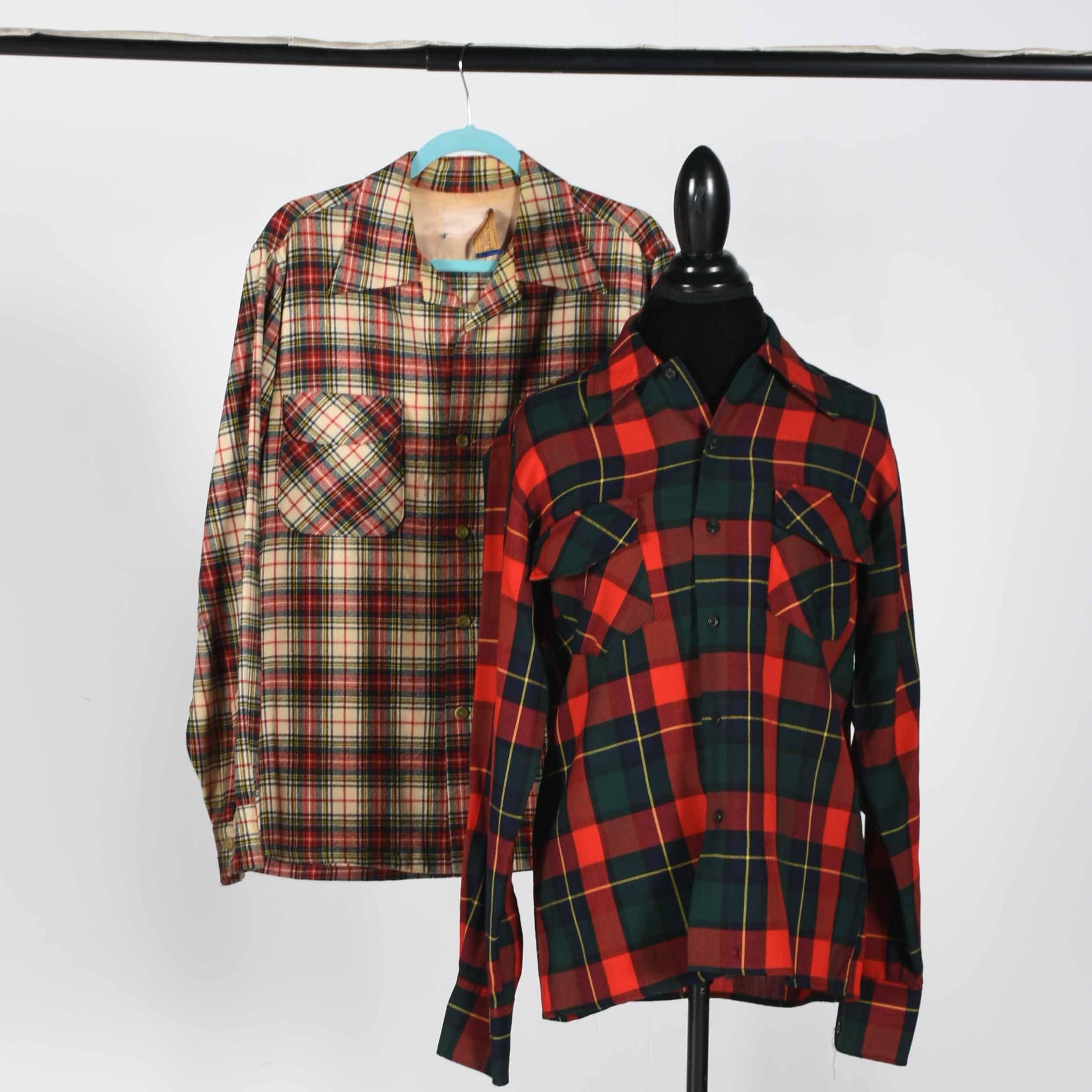 vintage pendleton and hudson bay flannel shirts ebth