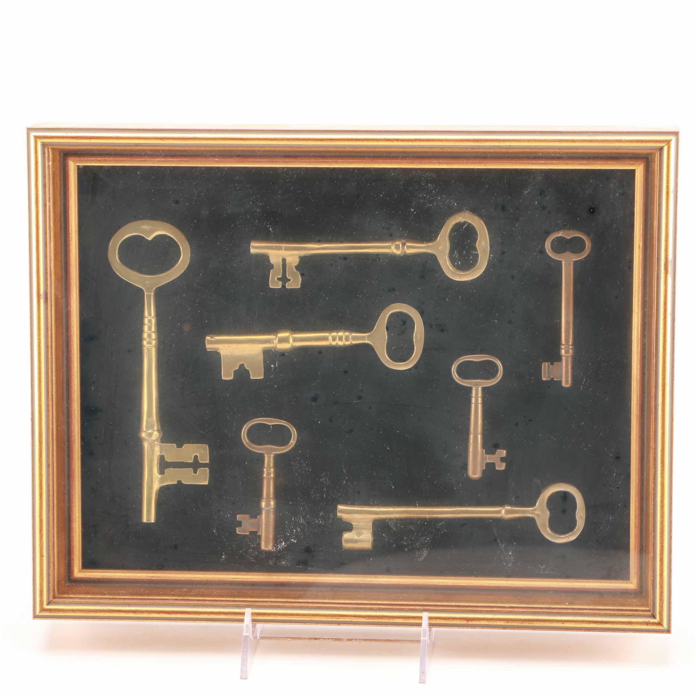 Collection of Framed Skeleton Keys