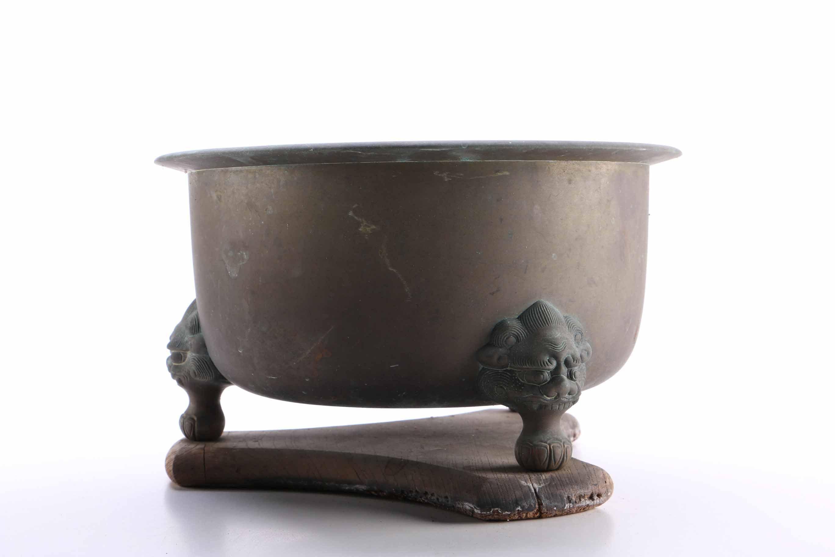 Vintage Copper Footed Pots