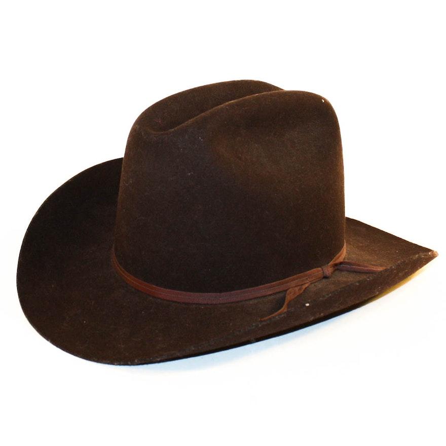 American Hat Company Brown Wool Felt Cowboy Hat