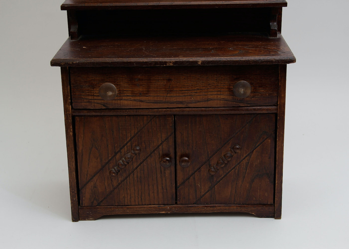 Antique Miniature Salesman Sample Oak Buffet Ebth
