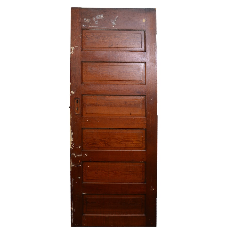Vintage six panel solid wood door ebth for Vintage solid wood doors