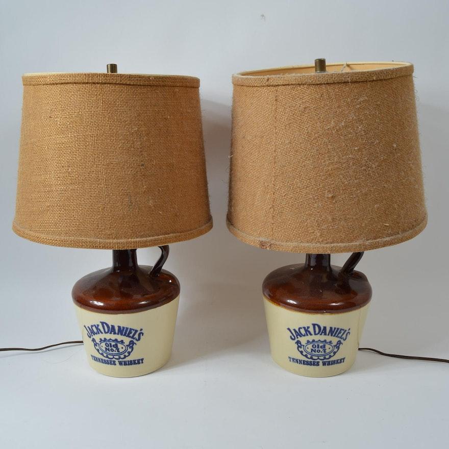 Set of jack daniels whiskey jug table lamps ebth set of jack daniels whiskey jug table lamps aloadofball Images