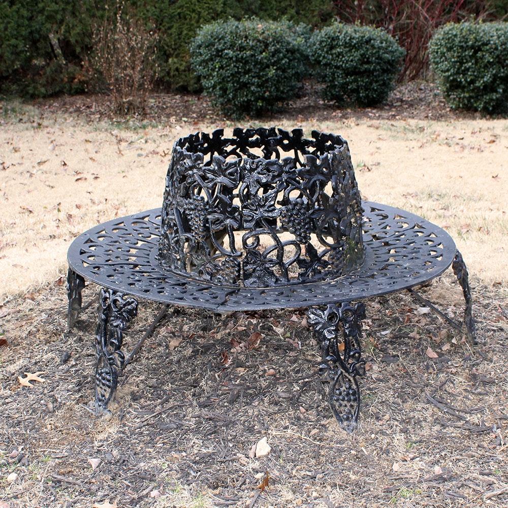 cast iron circular tree bench ebth
