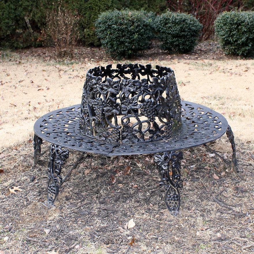 Cast iron circular tree bench ebth Circular tree bench