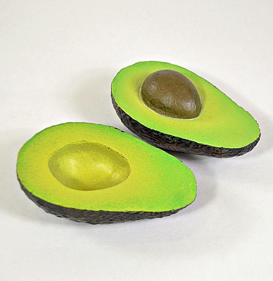 Donald Reed Bronze Sculpture of a Cut Avocado : EBTH