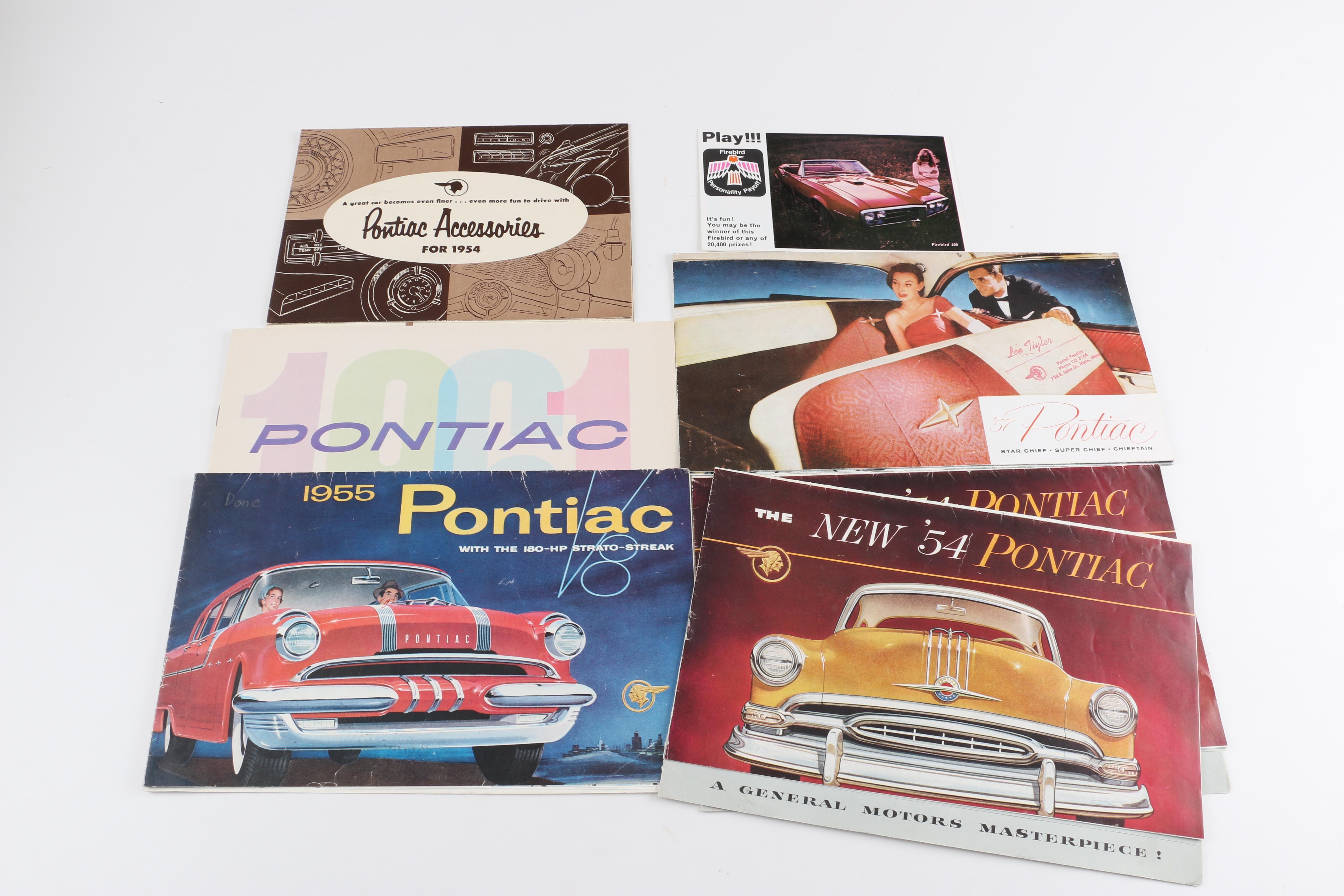 Vintage Pontiac Dealership Brochures