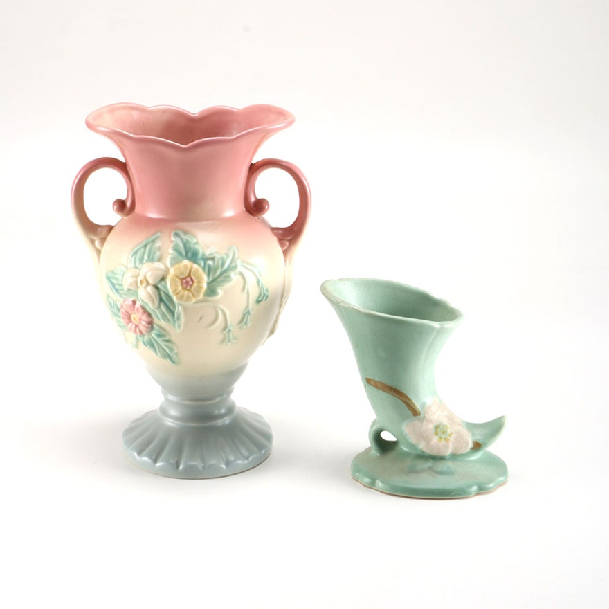 Hull And Weller Pottery Vases Ebth