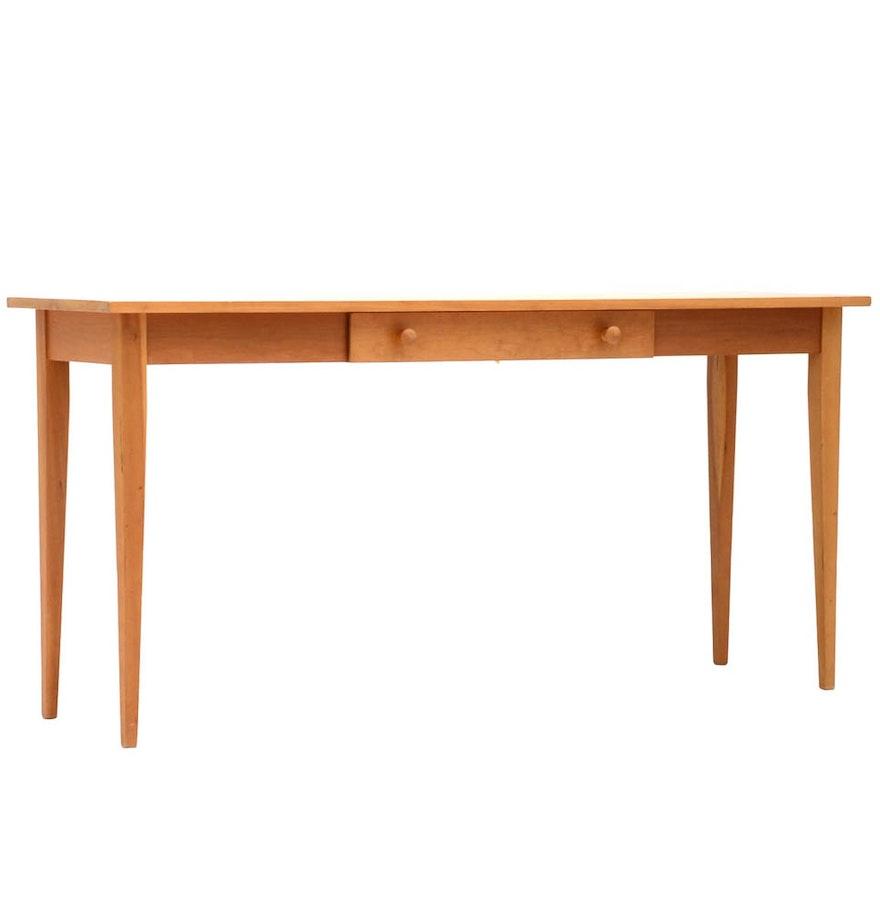 Contemporary maple console table ebth contemporary maple console table geotapseo Image collections