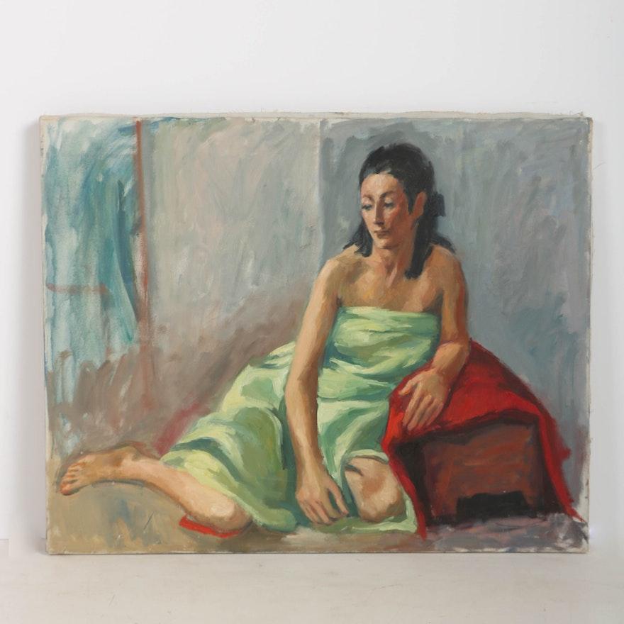 Vivian Reed Oil Painting On Canvas Sitting Female Figure