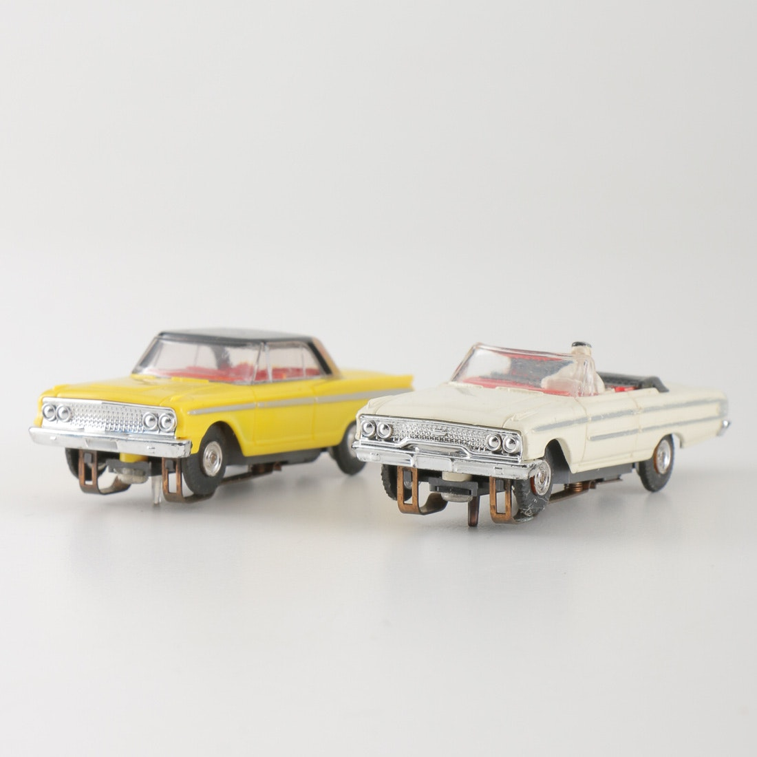 Pair of Aurora TJet Ford Fairlane and Galaxie Slot Cars