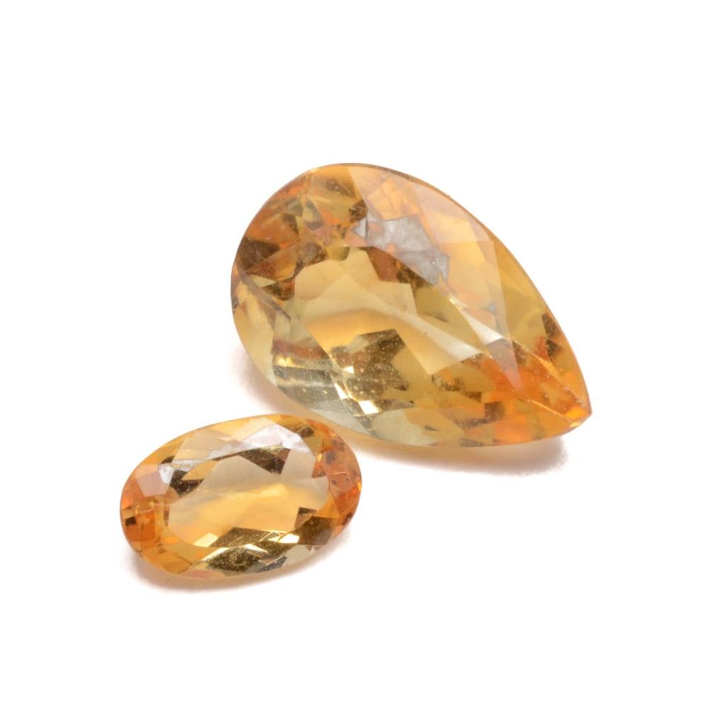 topaz and citrine gemstones ebth