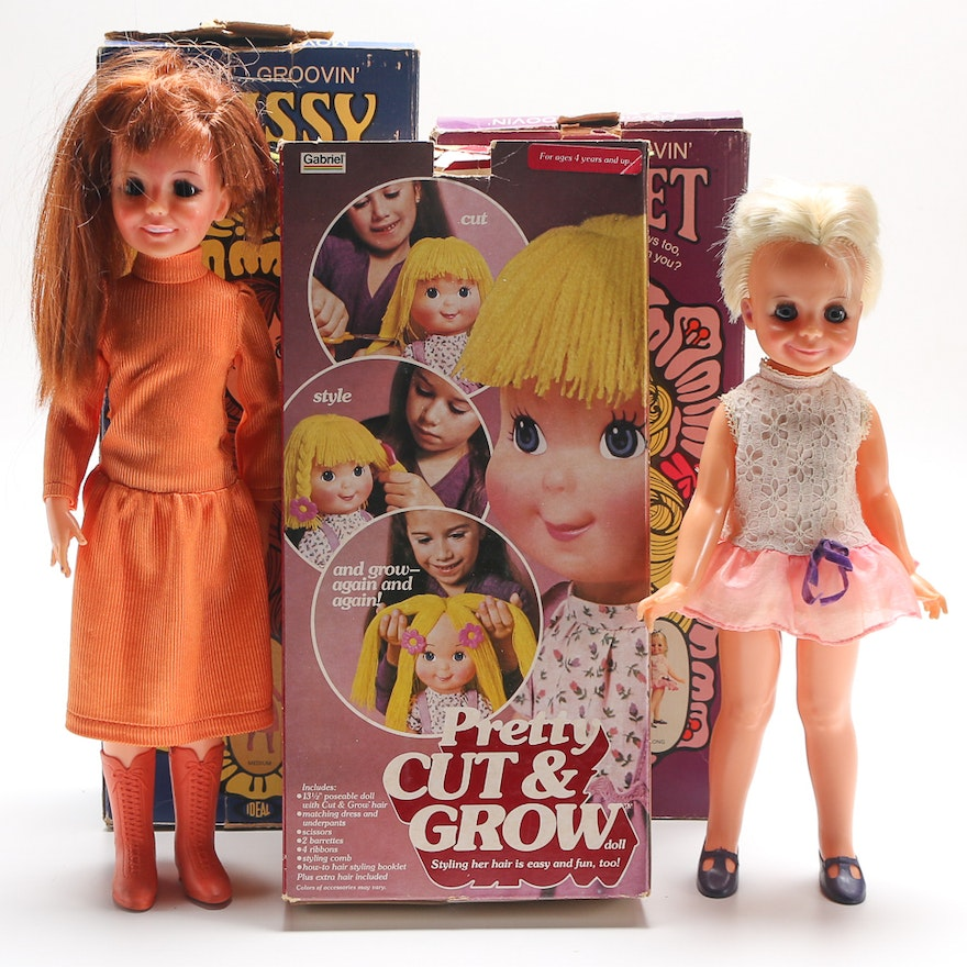 Vintage Hair Growing Dolls Featuring 1970s Ideal Movin Groovin