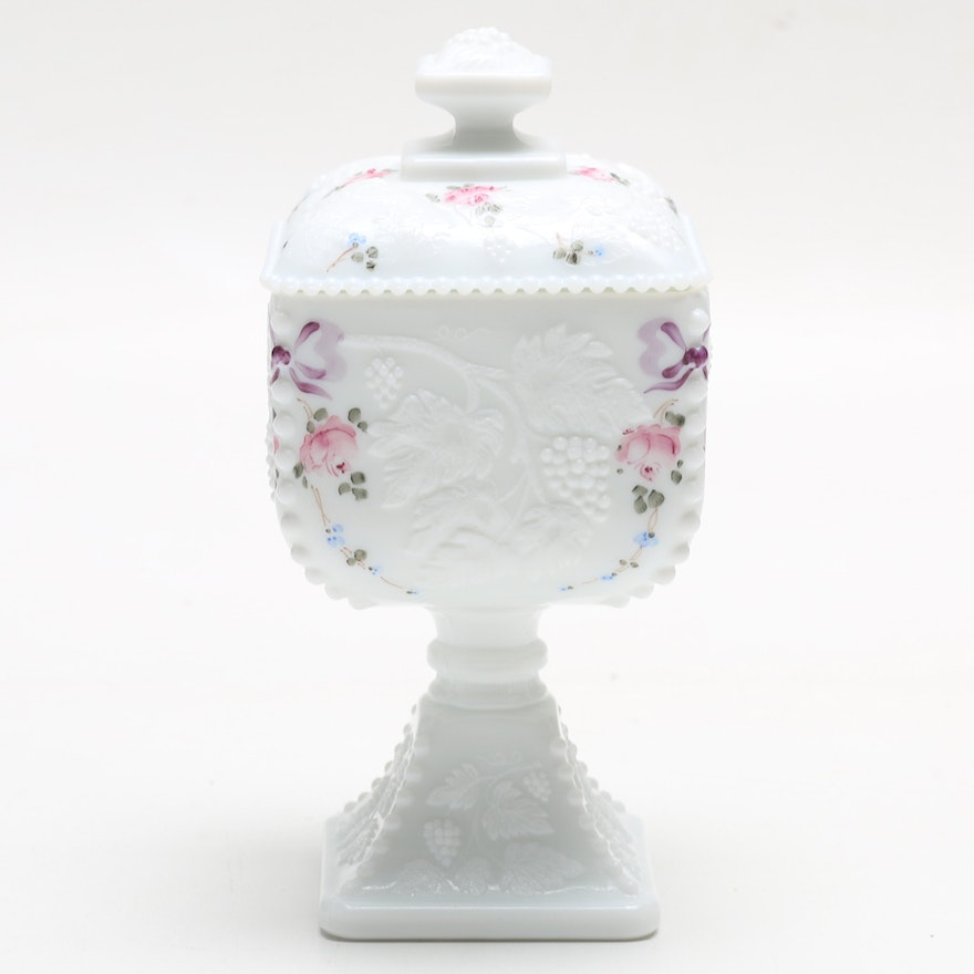 Milk Glass Candy Dish With Lid Ebth
