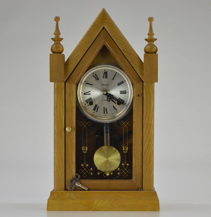 Vintage alaron 31 day pendulum clock ebth vintage alaron 31 day pendulum clock amipublicfo Image collections