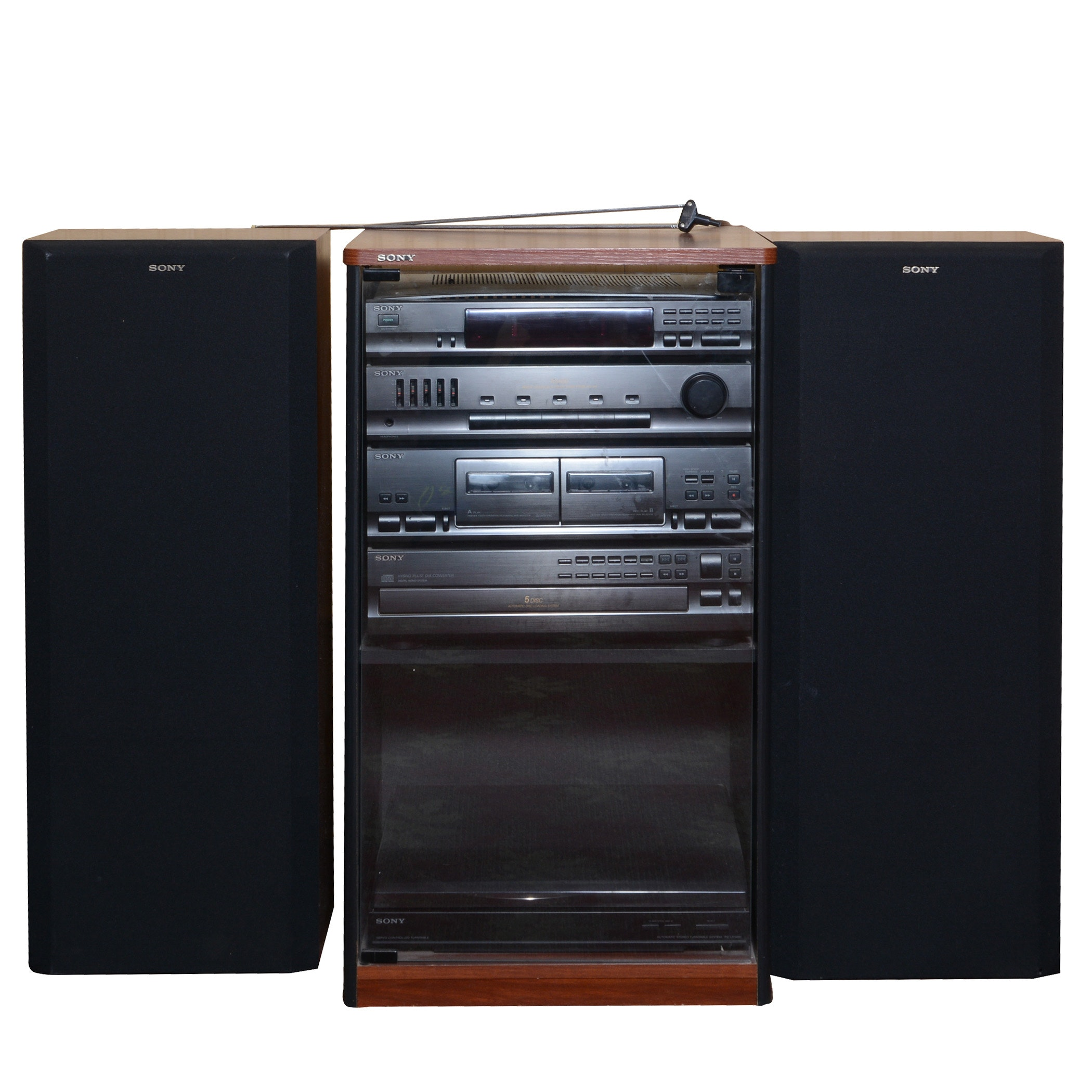 Sony Stereo Remote Control Hi Fidelity System In Cabinet ...