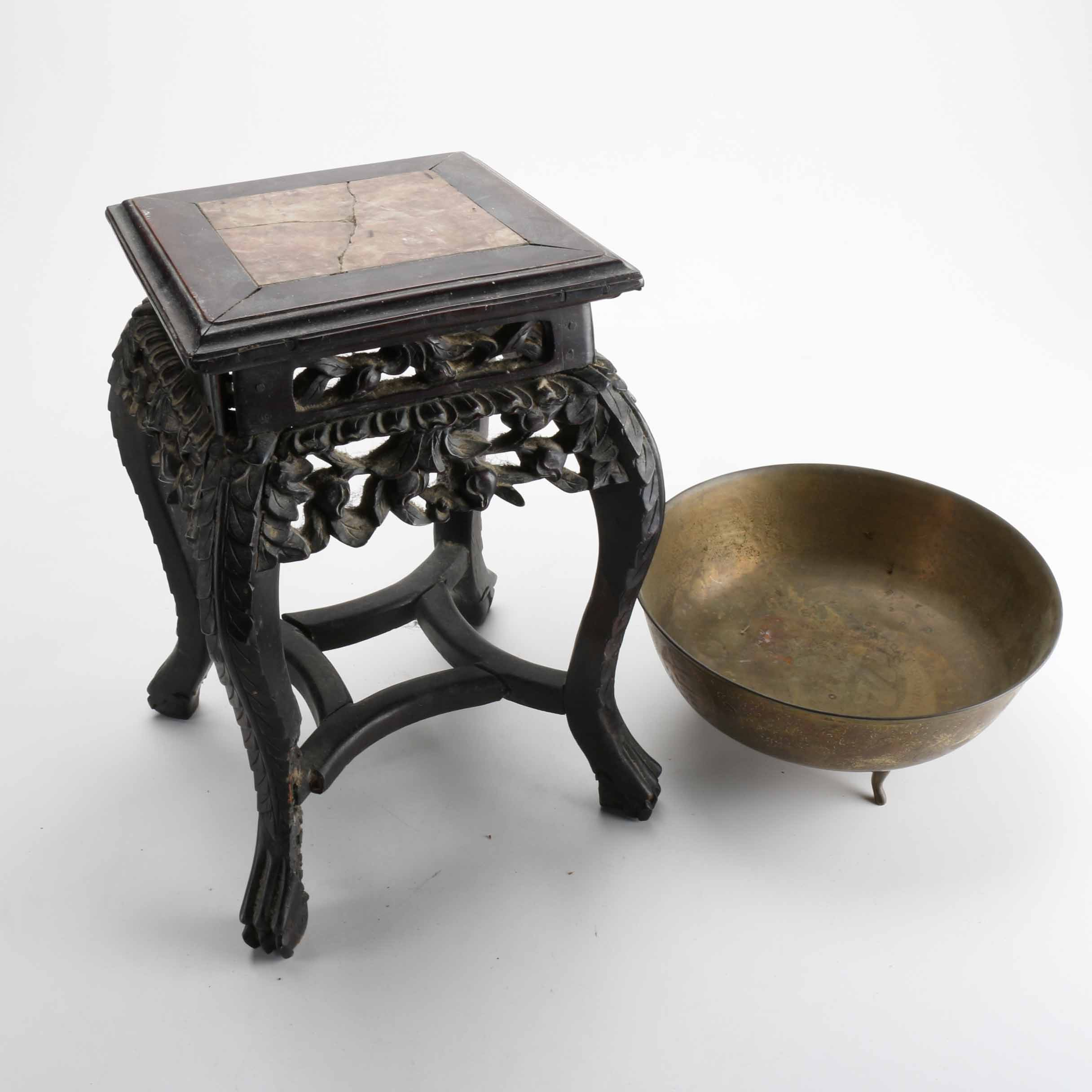 Chinese Bowl And Stand