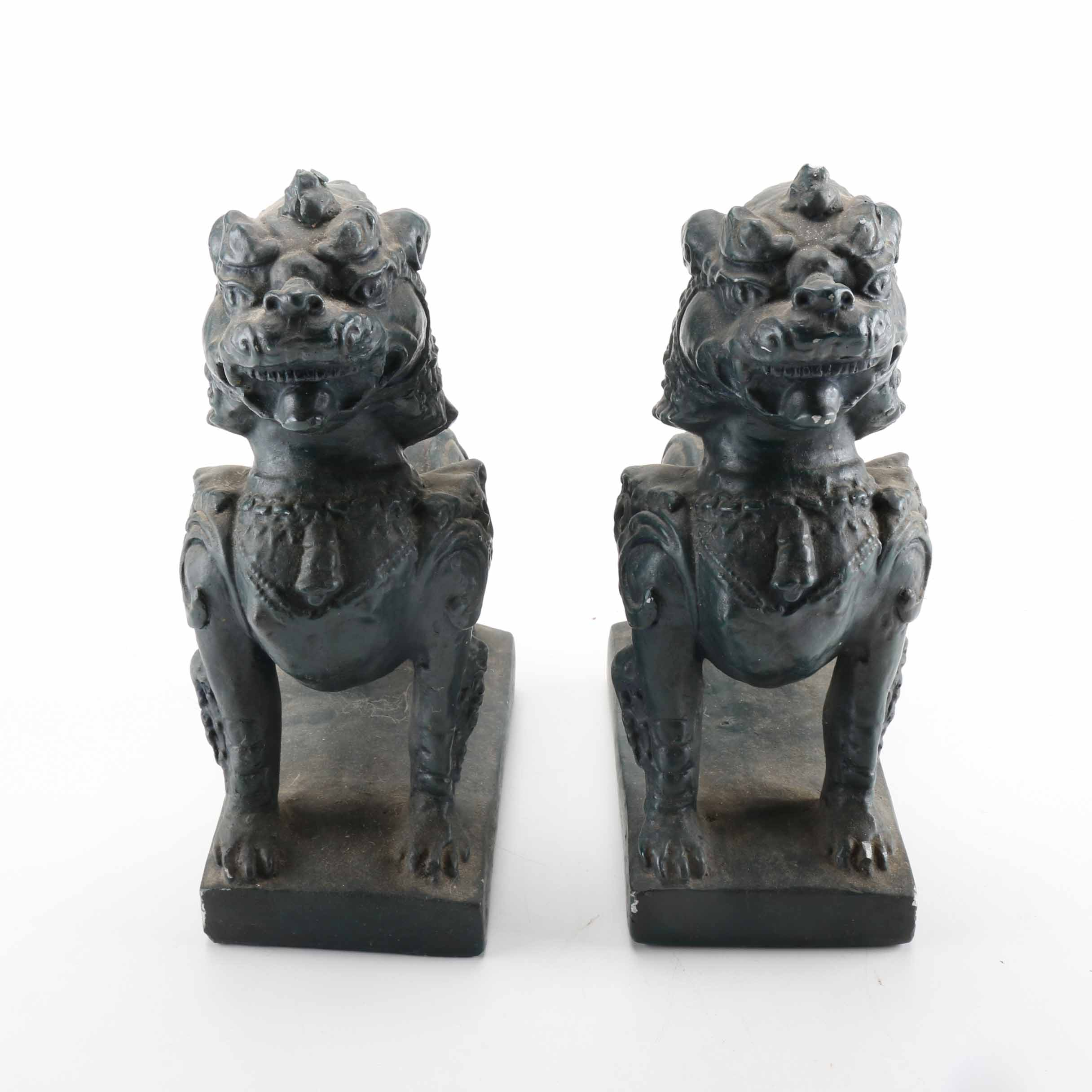 Chinese Guardian Lion Bookends