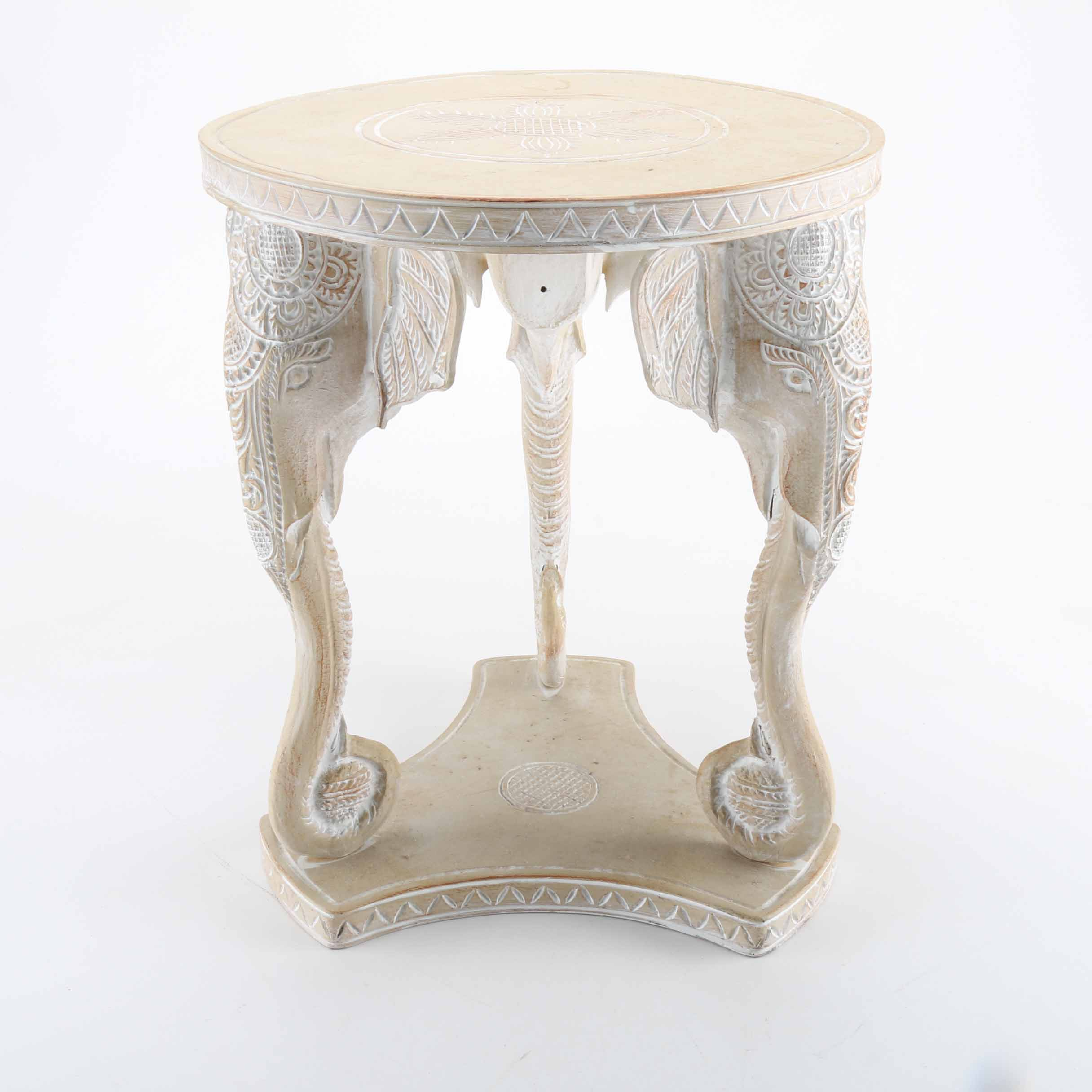 Indian Plaster Accent Table