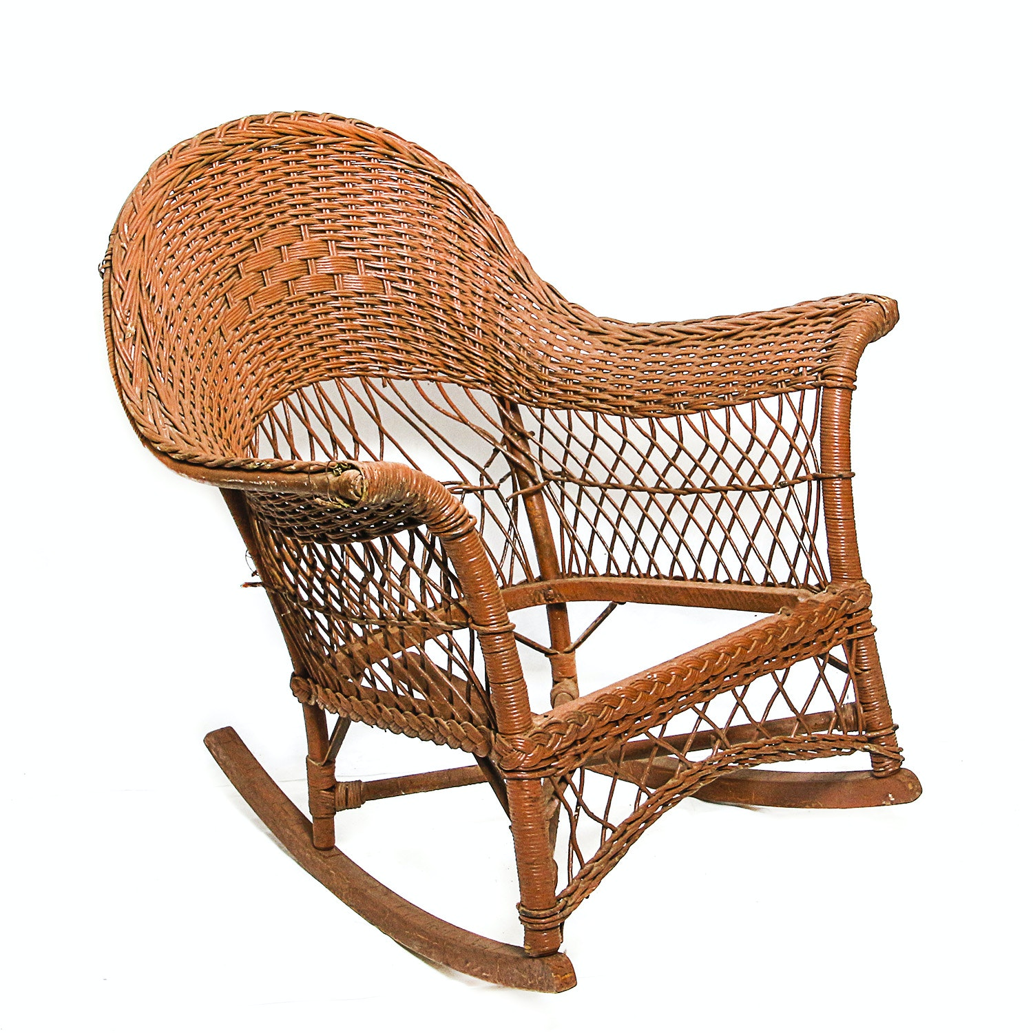1920u0027s Savannah Wicker Rocking Chair ...