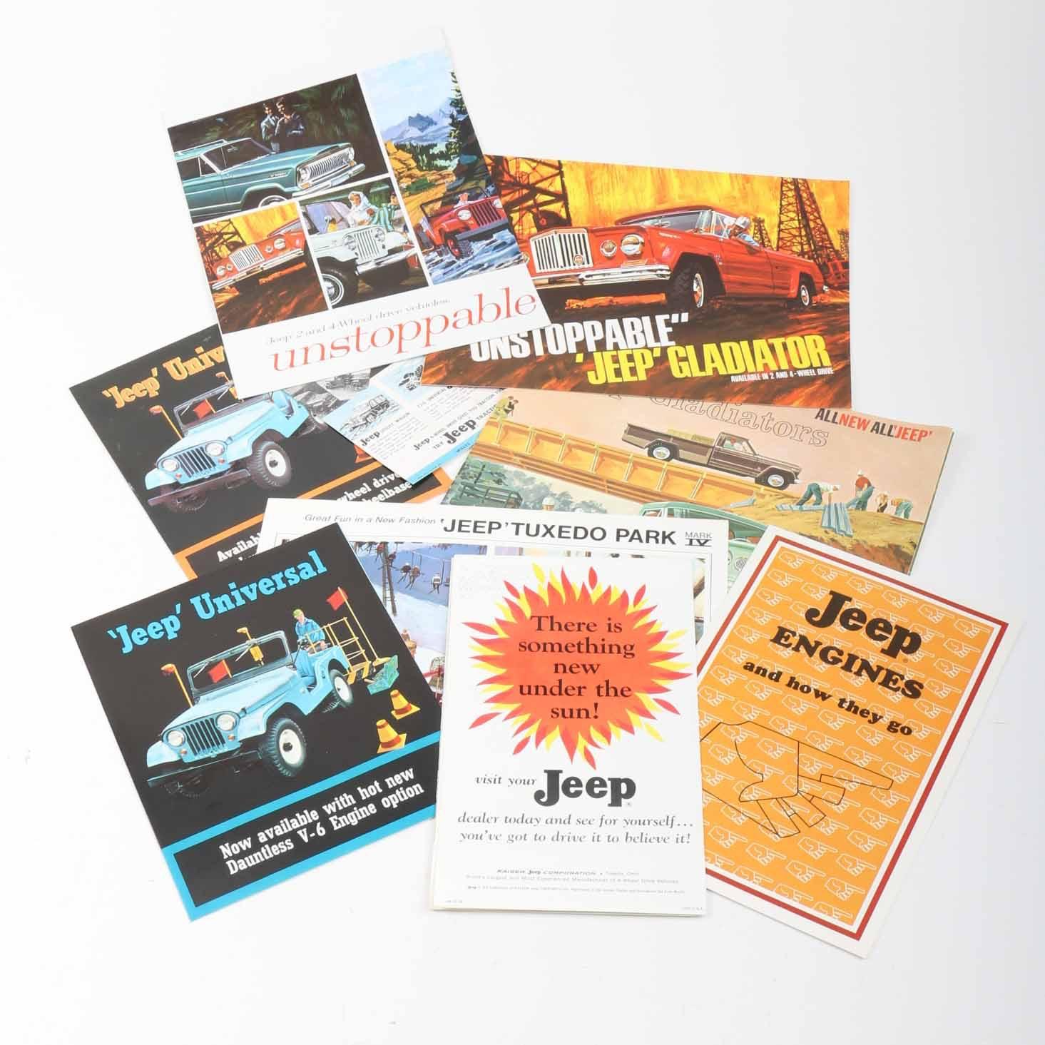 Vintage Jeep Dealership Brochures