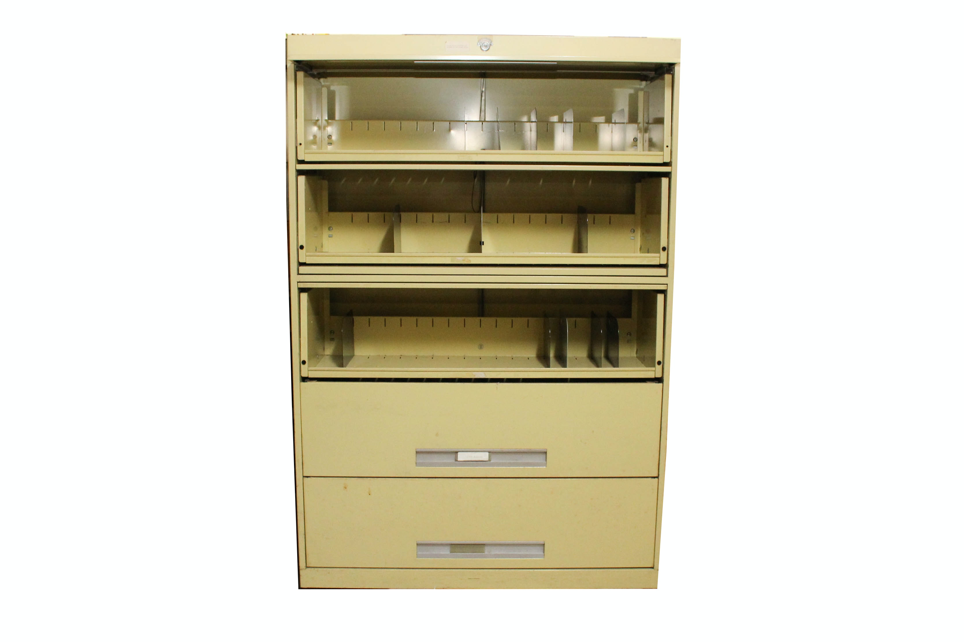 Bon Vintage Barrister Style Industrial Filing Cabinet By Supreme Equipment And  Systems Corporation ...