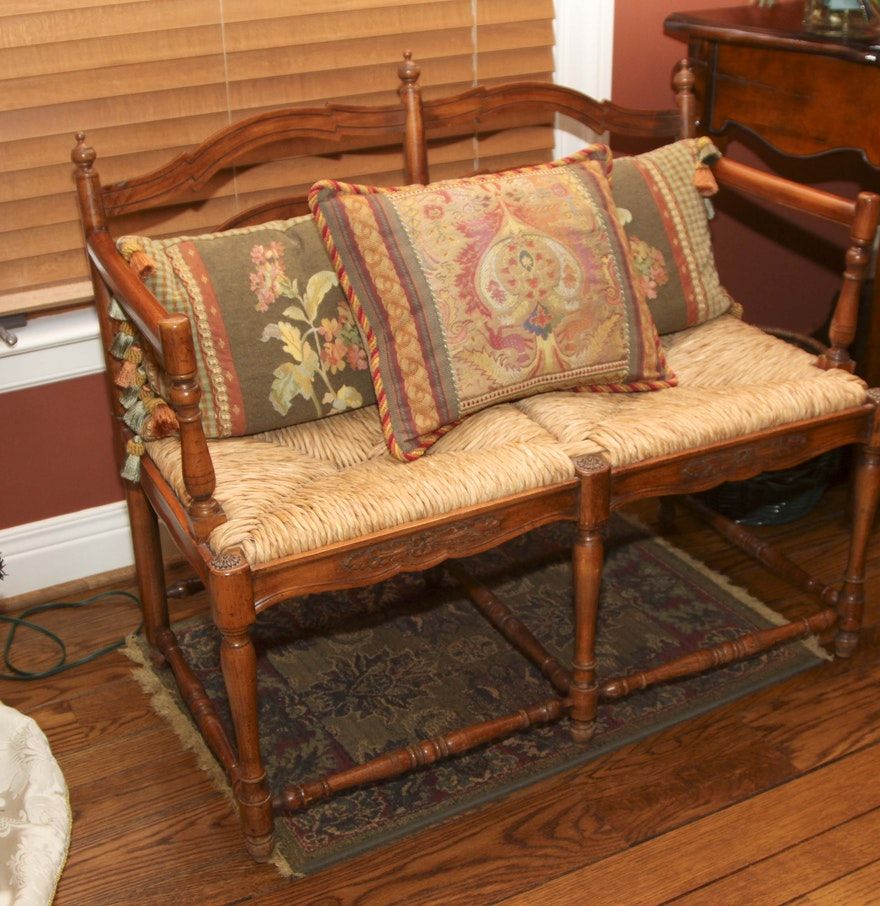 French Country Bench Ebth