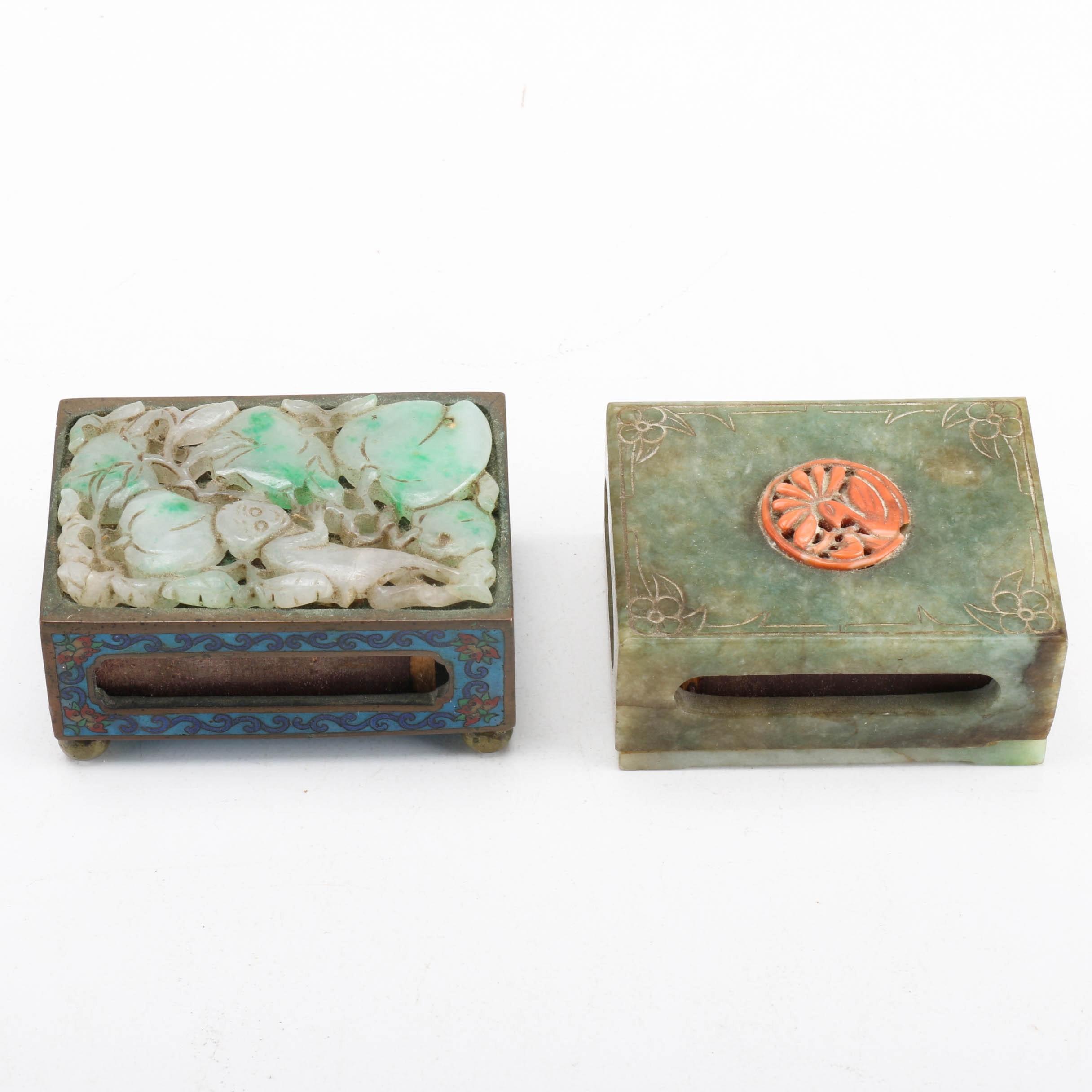 Jadeite Matchbox Holders