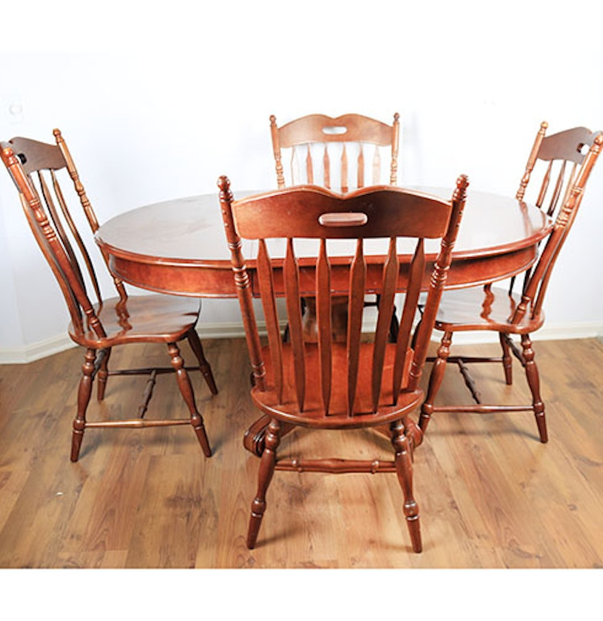 pedestal kitchen table with four chairs - Pedestal Kitchen Table