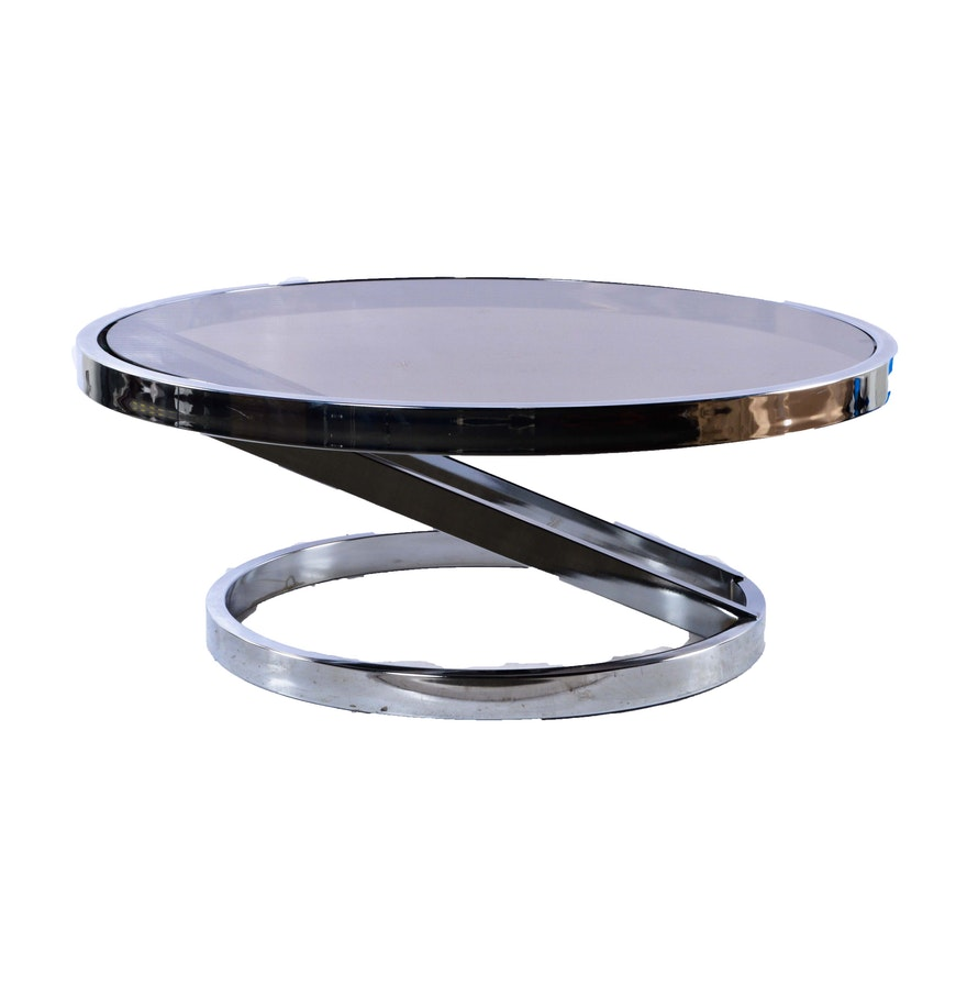 Chrome And Glass Coffee Table Ebth