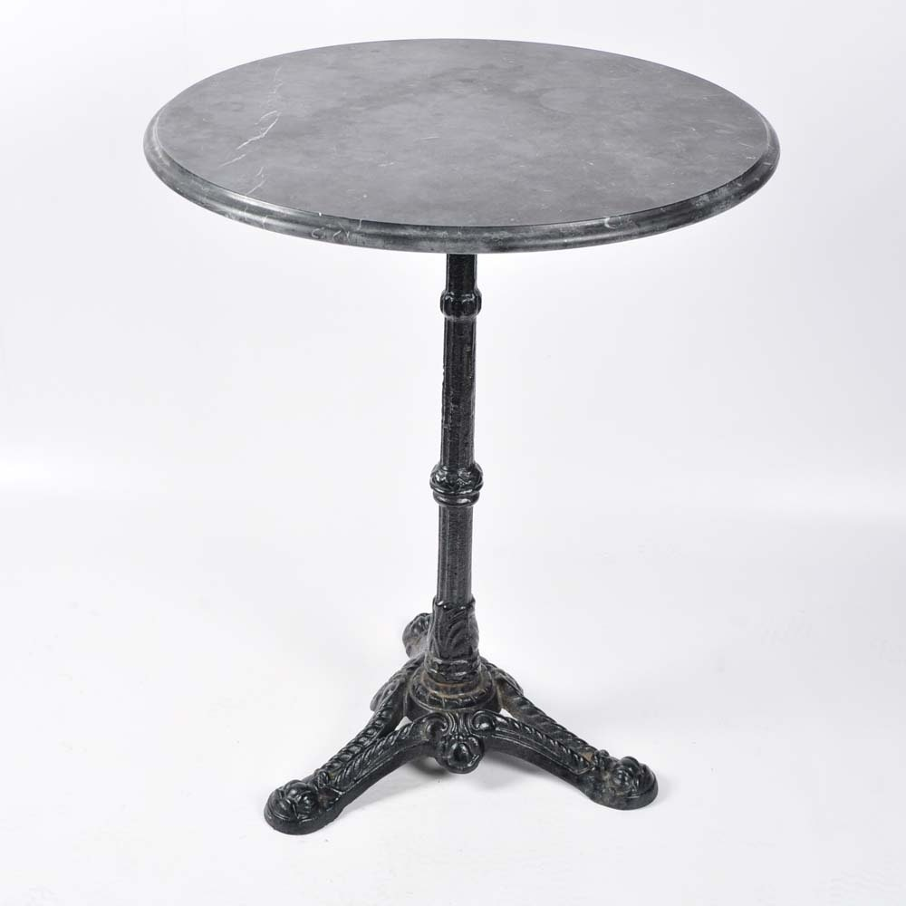 Merveilleux Cast Iron Bistro Table With Marble Top ...