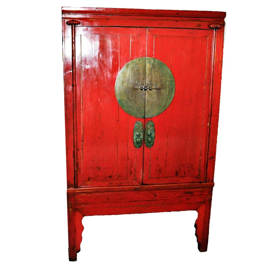 - Antique Chinese Wedding Cabinet : EBTH