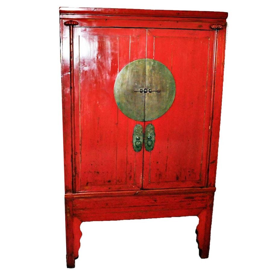 Antique Chinese Wedding Cabinet ... - Antique Chinese Wedding Cabinet : EBTH