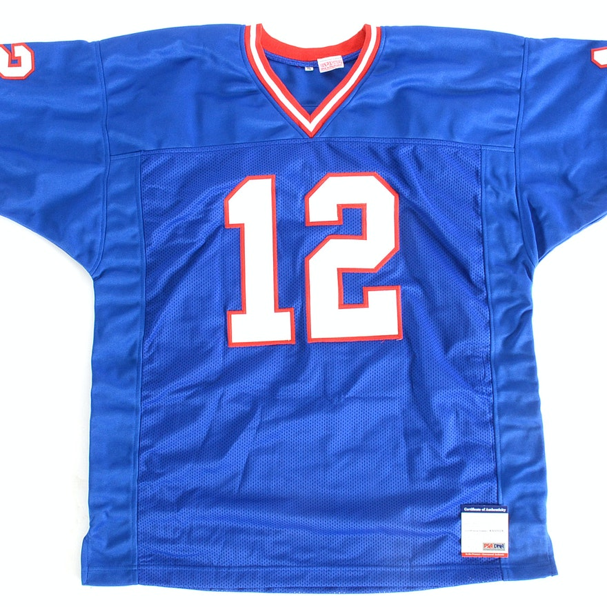 super popular 6fb39 a9e04 Jim Kelly Buffalo Bills NFL Signed Football Jersey PSA COA