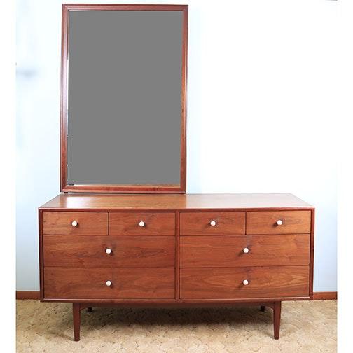 Mid Century Modern Dresser and Mirror by Drexel