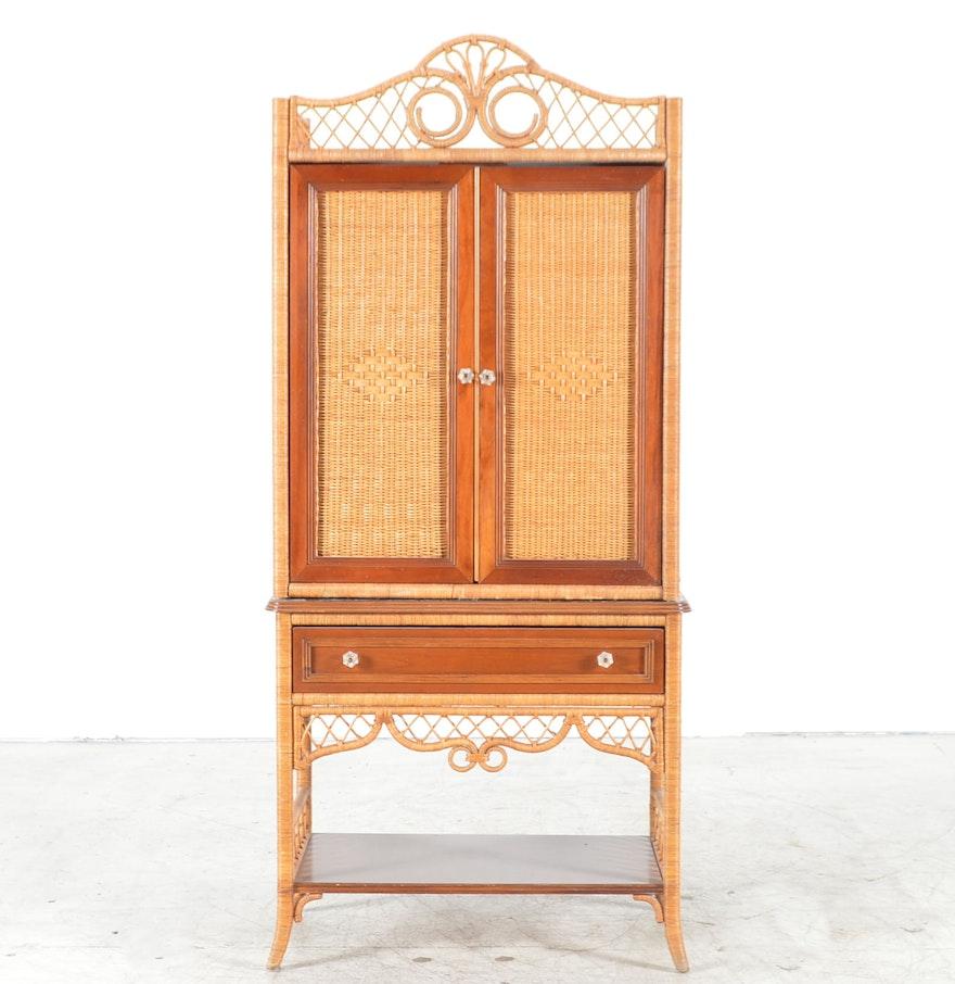 Wicker Entertainment Cabinet From Lexington Furniture Ebth