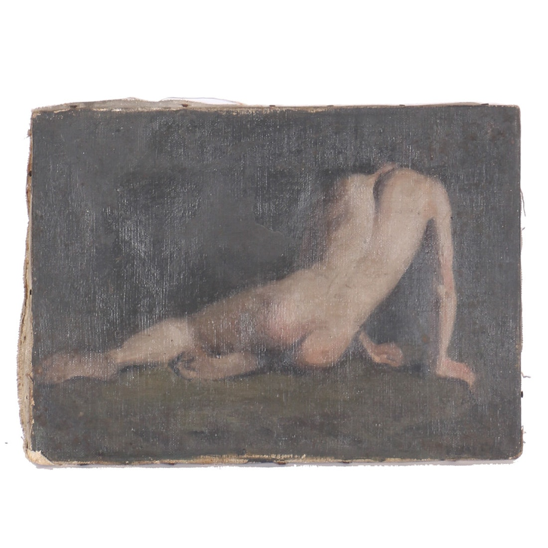 Emily Burling Waite Oil Painting on Canvas of a Nude Figure