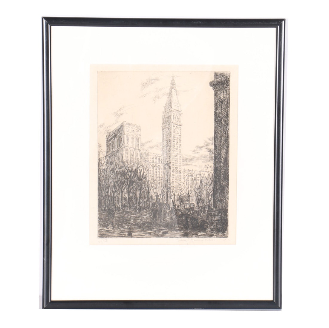 Emily B. Waite Limited Edition Etching on Paper of a Cityscape