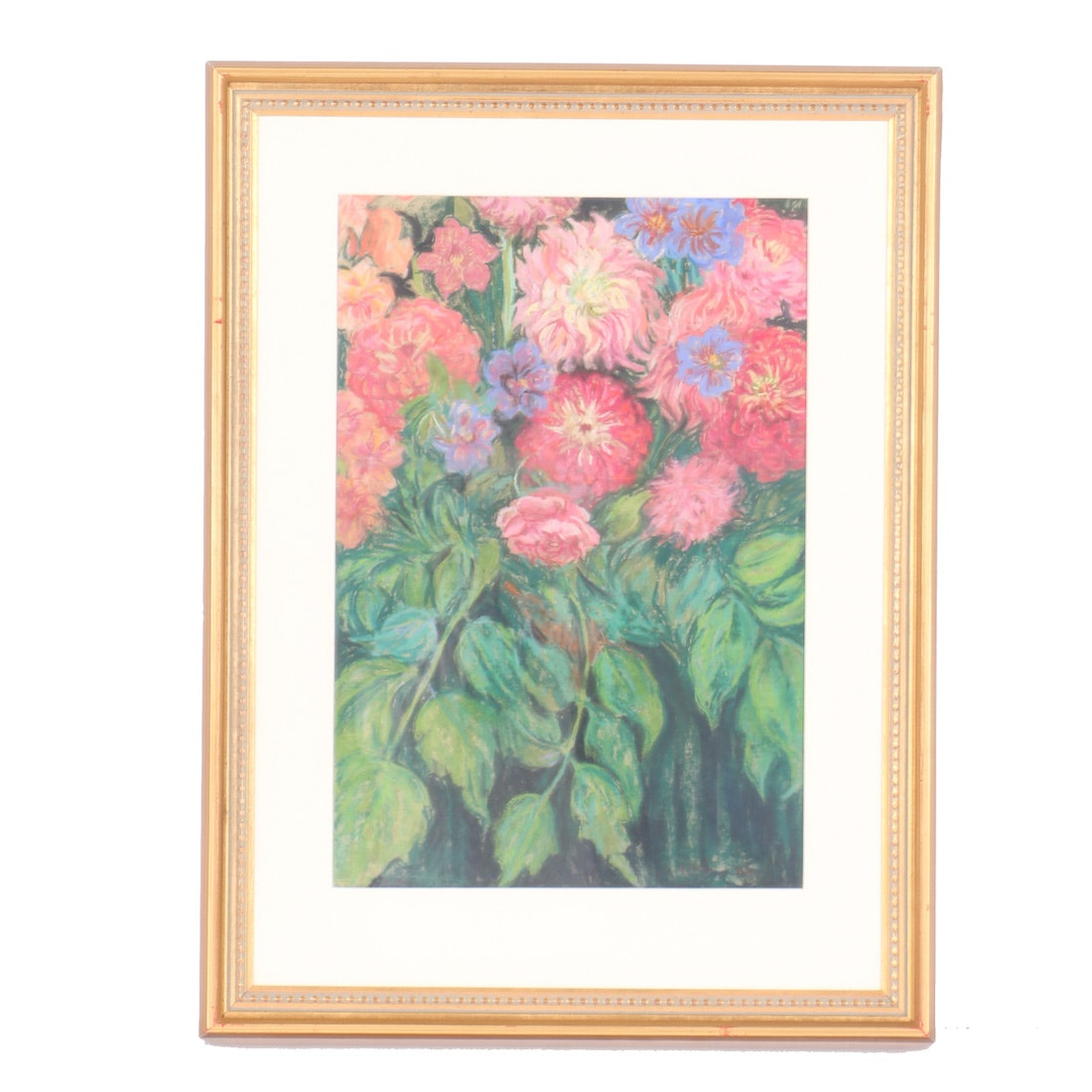Emily B. Waite Pastel Drawing on Paper Floral Still Life