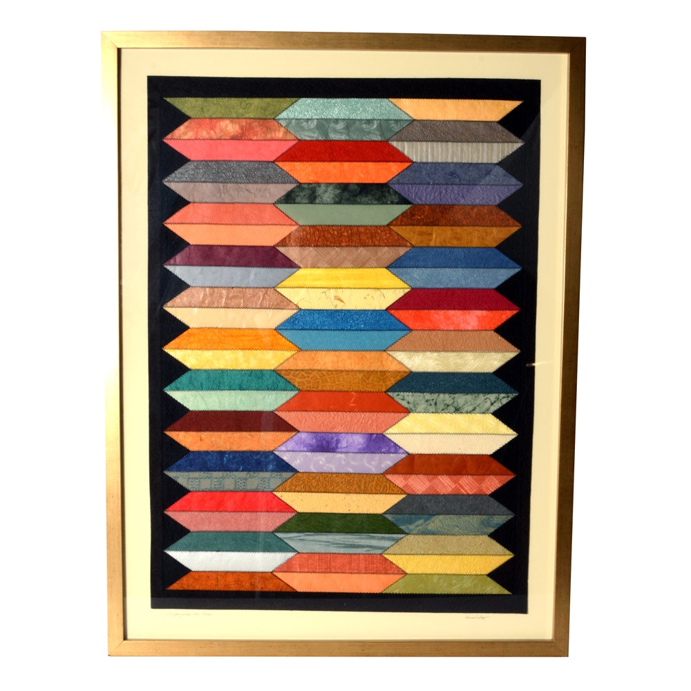 "Anna Valez ""Trapezoids in Color"" Paper Quilt Art"
